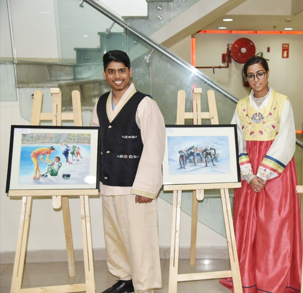DPS Ranchi students shine at 1st Korea-Indian Friendship Painting Competition 2017