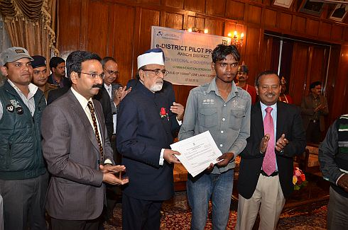 Governor Ahmad distributes one lakh certificates online