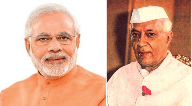 Like Chalk & Cheese,Nehru & Modi  not comparable