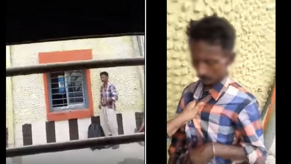 Woman shows man masturbating at a railway station live on Facebook
