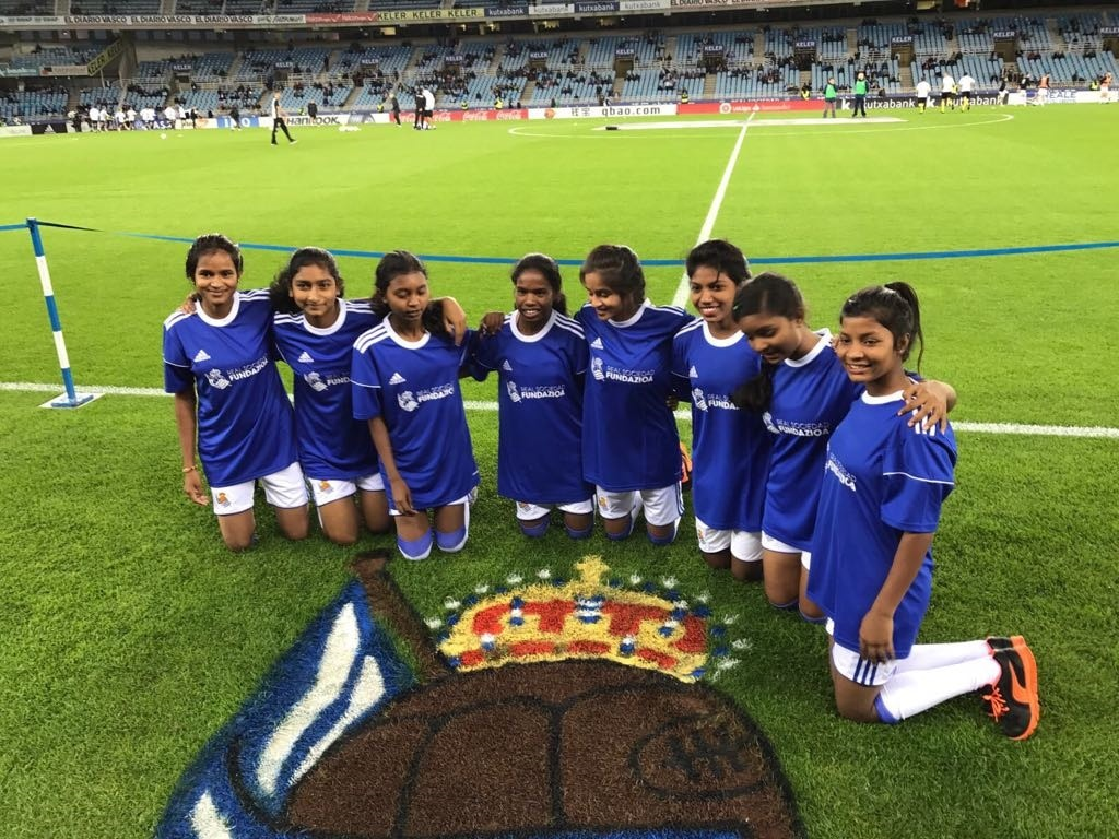 real-sociedad-of-spain-train-jharkhand-girls-in-football