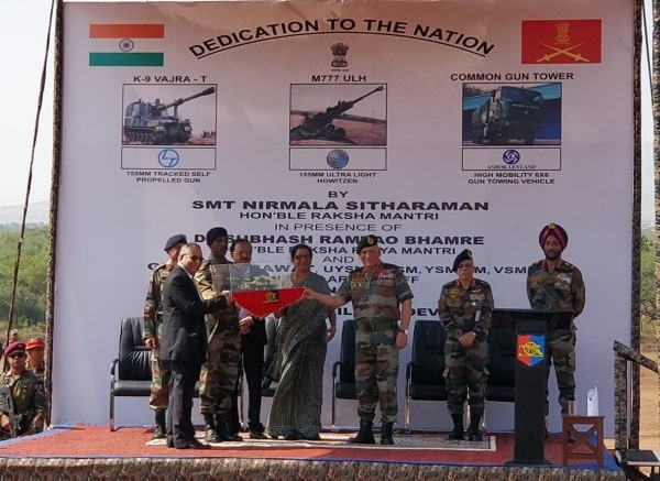 sitharaman-dedicates-m777-a2-howitzers-to-service-of-the-nation