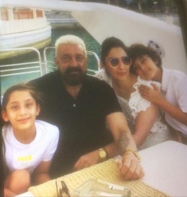 Sanjay Dutta, Maanayata spending quality time with kids in Dubai