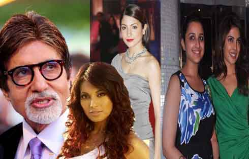 When Big B gave a peck each to Priyanka,Parineeti,Anushka,Bipasha…