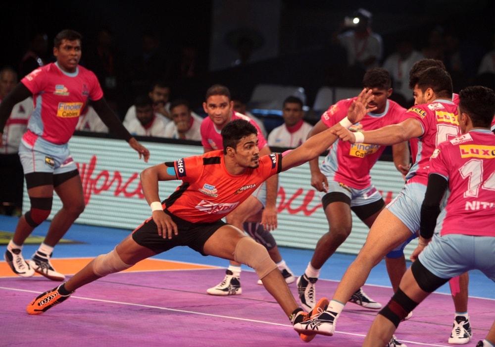 VIVO Pro Kabaddi Season 5: U Mumba beat Jaipur Pink Panthers 36-32 in a thrilling encounter