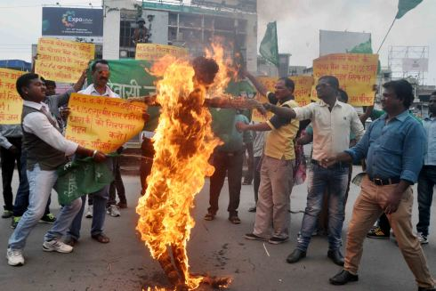 Tribals protest against the film-MSG-2:The Messanger