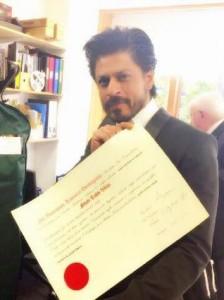 Shah Rukh Khan gets honorary degree from Scotland