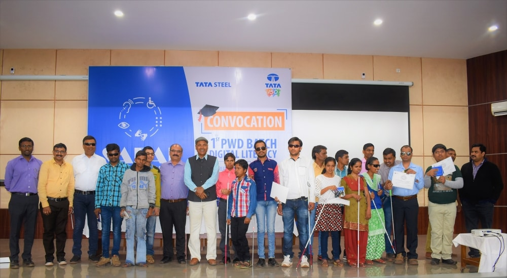 Convocation ceremony of the 1st batch of training center for persons with disabilities held at Tata Steel Noamundi