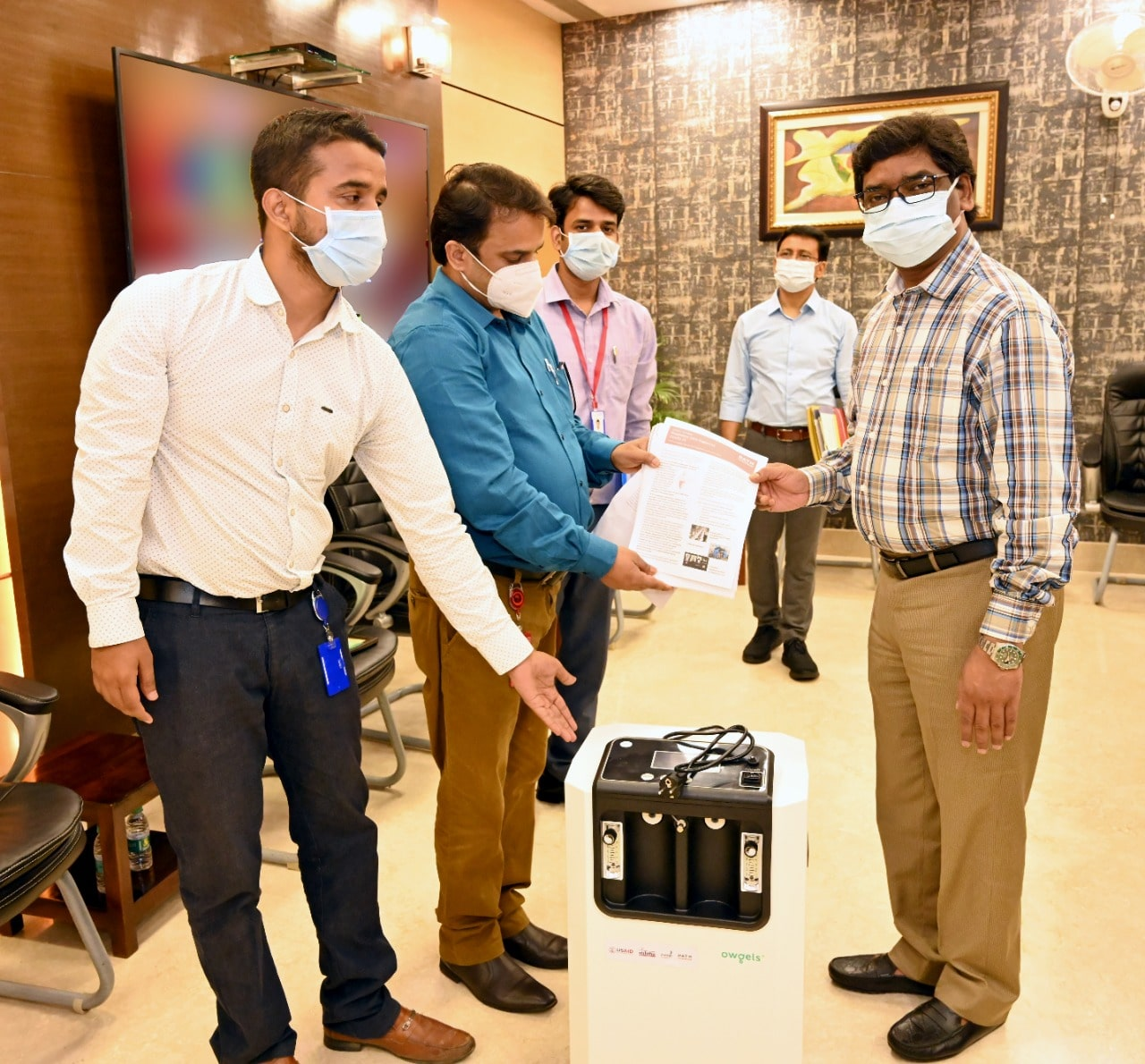 USAID-Nishtha-PATH-organization-provided-300-oxygen-concentrators-in-129-health-centers-of-jharkhand