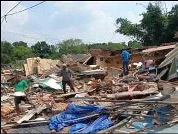 रेलवे की जमीन पर राँची में अवैध कब्जा जमाए लोगों पर बुल्डोज़र चलाई गई