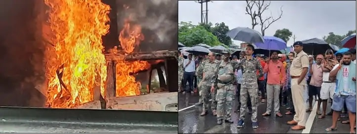 Direct-collision-of-car-and-bus-on-Jharkhand-s-NH-33-5-people-burnt-alive