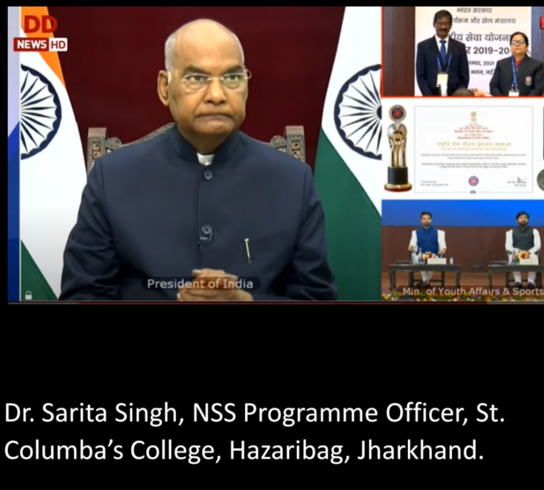 National-Service-Scheme-Awards-2019-20-President-honored-3-volunteers-from-Jharkhand