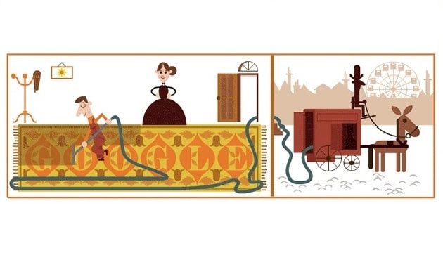 Google remembers Hubert Cecil Booth, inventor of the vacuum cleaner with a Doodle