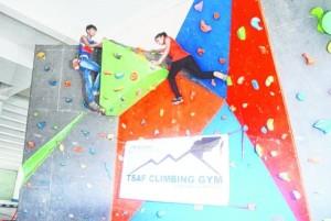 Climbing gym set up in Jamshedpur