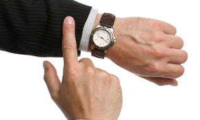 Setting an example of punctuality