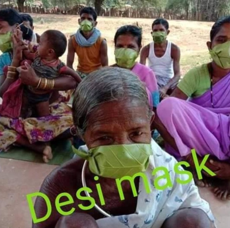 tribals-use-khadi-mask-in-coronavirus-free-khunti