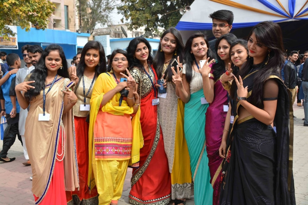 <p>St. Xavier's College students during youth fest, 'Xavier Utsav 2018', organized annually in the month of February. This event started from Wednesday, (February 7) with…