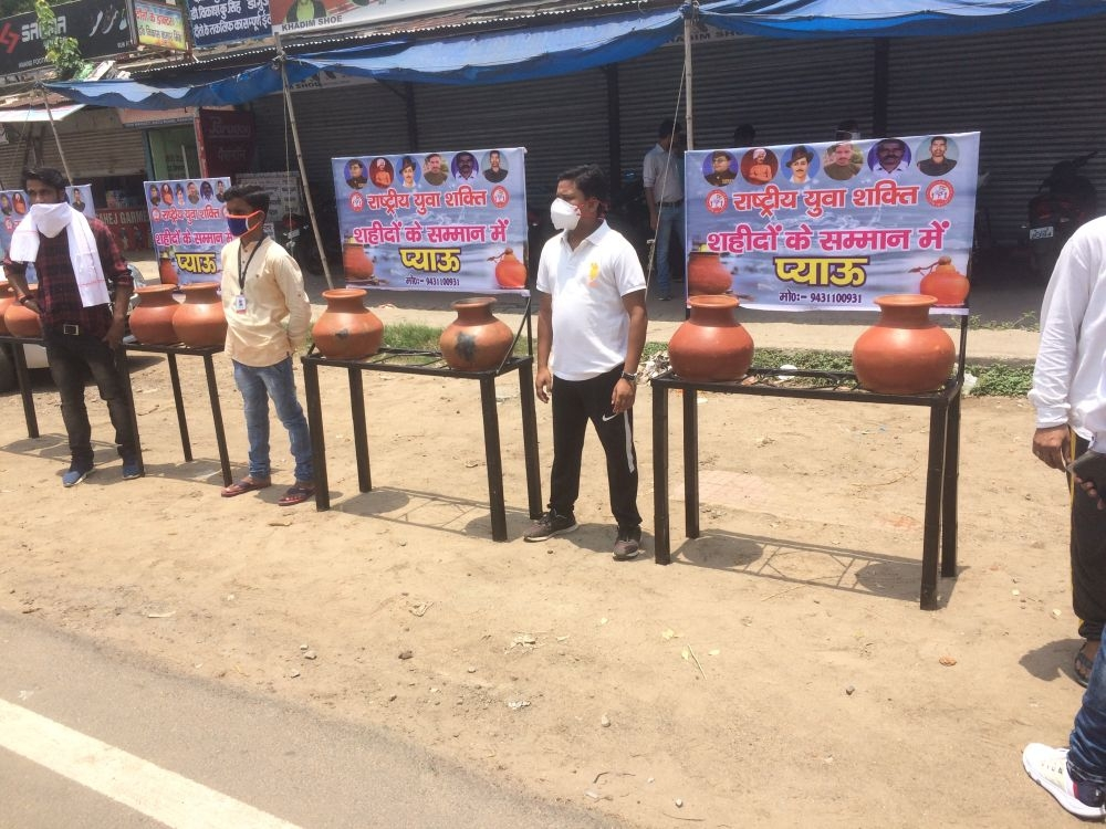 <p>A dozen drinking water pots were installed by Rashtriya Yuva Shakti led by veteran youth leader Uttam Yadav.  </p> <p>These pots put up at far-flung areas in Ranchi, each providing…