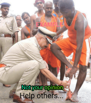 <p>Jharkhand DGP DK Pandey wins heart of an injured man by putting bandage in his leg, initiating a campaign among the police personnel - Help Others</p>