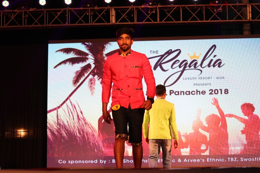 <p>On the final day of Panache - 2018 at XISS Ranchi, students walk on ramp during a modelling contest.</p>