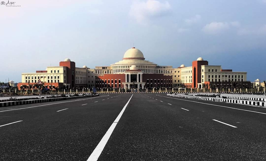 <p>The new building of Jharkhand Assembly looks, majestic.</p>