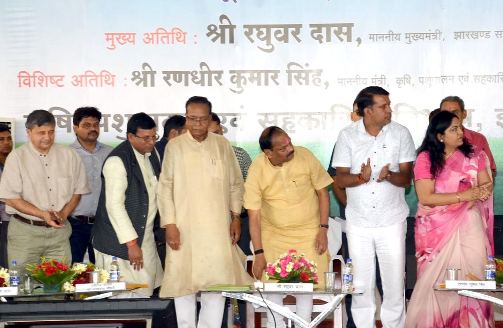 <p>Chief Minister Raghubar Das launching block level 'Krishi Chaupal' during a programme at Gagi, Kanke in Ranchi on Wednesday. Agriculture Minister Randhir Kumar Singh, Ranchi…