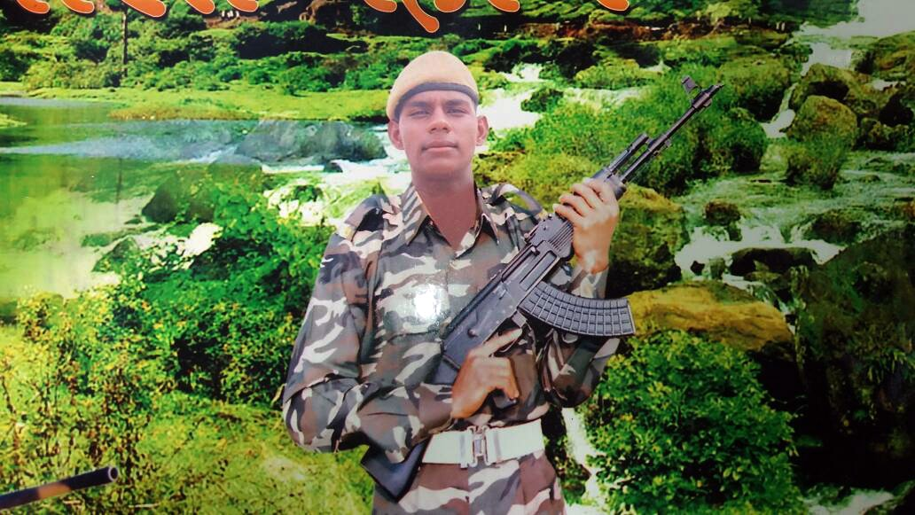<p>File photo of slain CRPF jawan Ashish Kumar Singh who was among its 25 personnel killed in Maoist attack at Sukma district in Chattisgarh.</p>