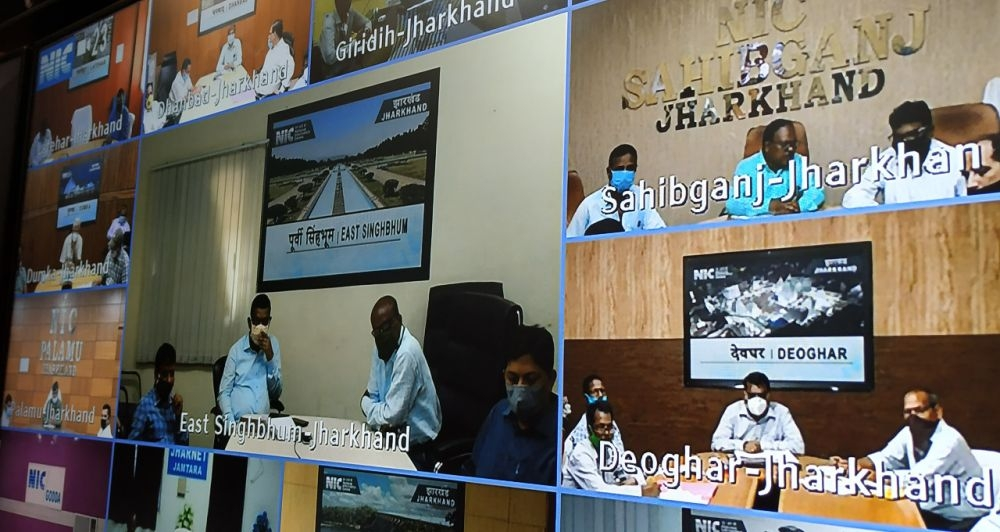 <p>Jharkhand Agriculture Minister holds a video conference with officers in Nepal House in Ranchi on July 22, 2020.</p>