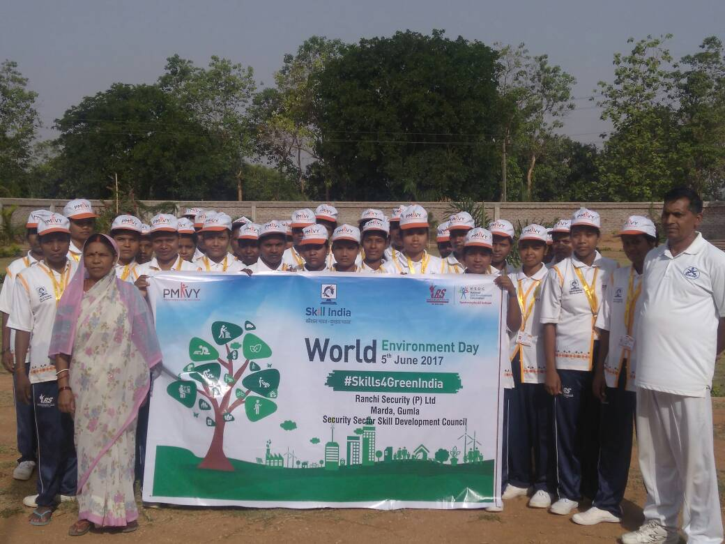 <p>Students of Shridhar Gyan Sanshan, a body working to train students under Skill India Campaign of the Central Government led by PM Narendra Modi,celebrated World Environment Day…