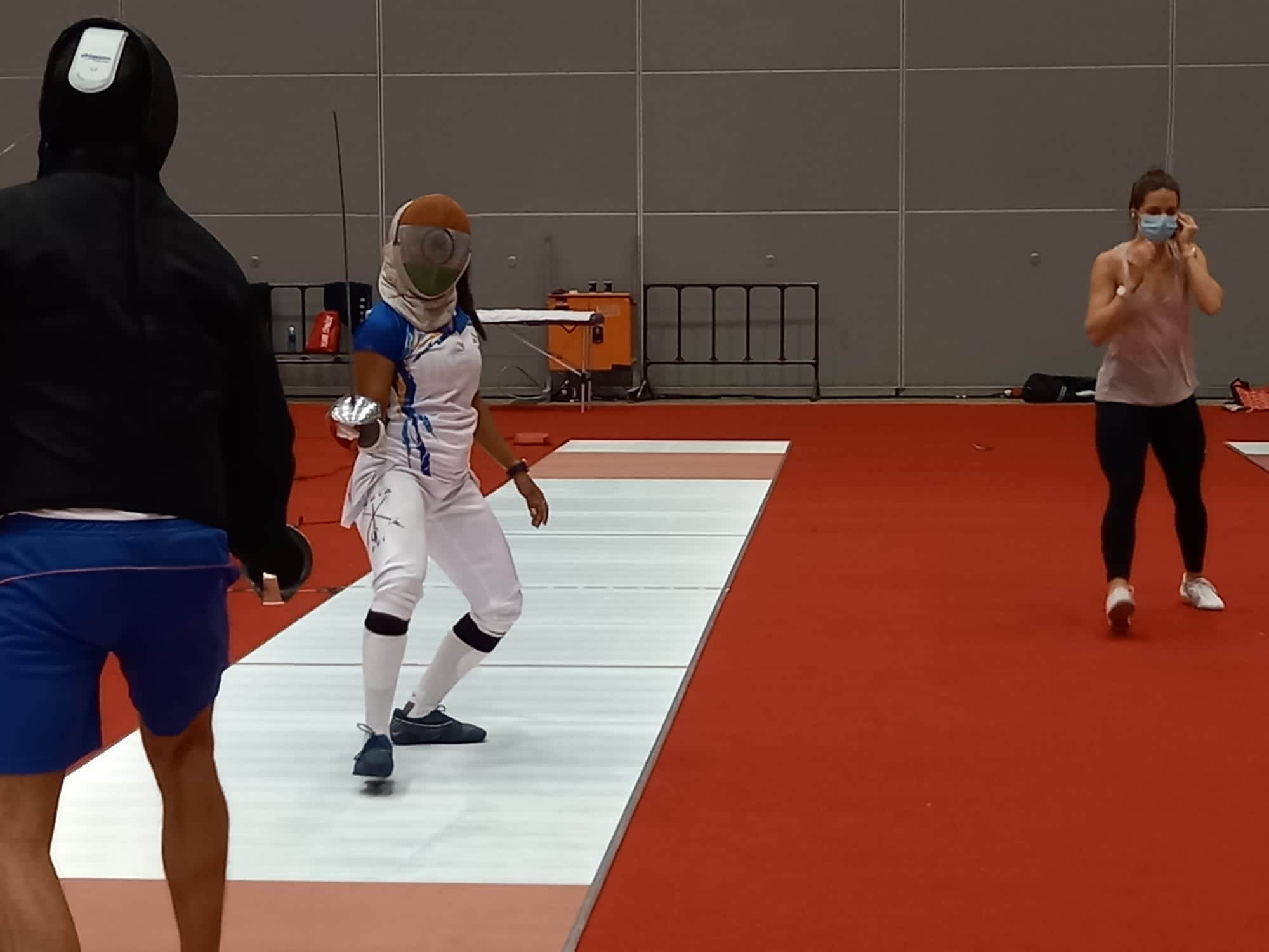 <p>Bhavani Devi in training session, she's India's first ever woman fencer to reach Olympics 2020 in Tokyo.</p>