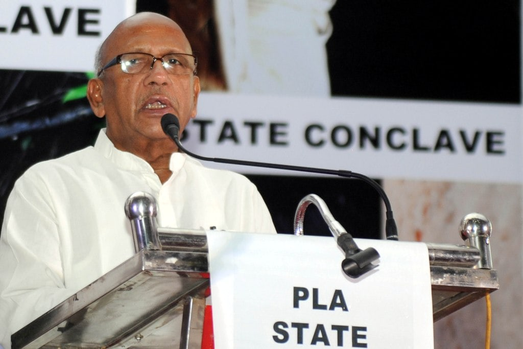 <p>Parliamentary Affairs and Food and Supply Department minister Saryu Rai addresses a gathering during PLA state level conclave, organised by Health Department at RIMS auditorium…