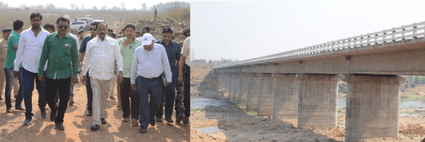 <p>Jharkhand Chief Minister Raghubar Das,accompanied by the state government officials and engineers, inspected the construction work connected with bridges in the making at Nutandih…
