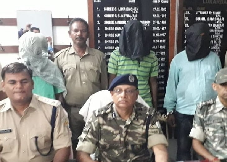 <p>Acting on a tip-off,the police have arrested three arms suppliers to Maoists in Jharkhand. Lohardaga SP Priyadarshi Alok informed that while security forces of the state police,CRPF…