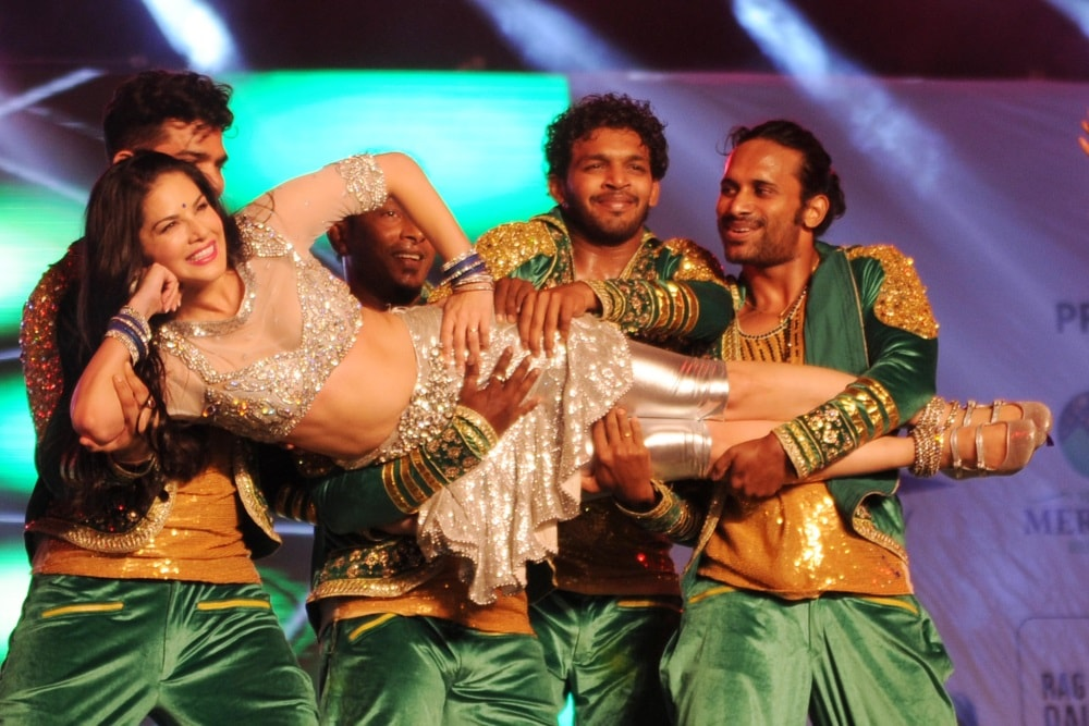 <p>Bollywood actress Sunny Leone performing during Mr. and Miss Attitude East Zone 2017 at Morhabadi ground in Ranchi on Saturday.</p>