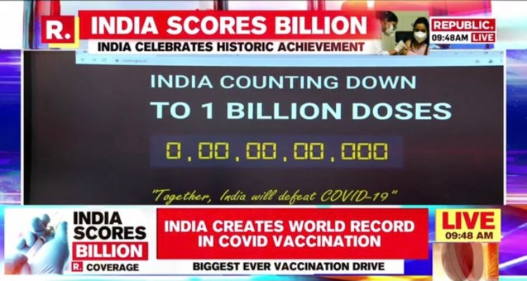 <p>India creates history…1.0 billion doses of CoviVax administered in the country. Congratulations to one and all...</p>