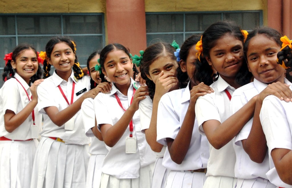 <p>Successful students of Ranchi based Ursuline Convent School all in smiles after Jharkhand Academic Council (JAC) declared results for class 10th at their school campus…