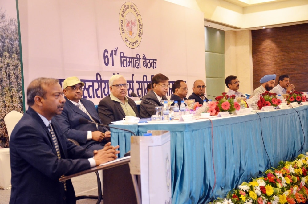 <p>Additional Chief Secretary Amit Khare addressing at the 61th State level Bankers' Committee (SLBC) meeting at a city based hotel in Ranchi on Friday. Joint Secretary…