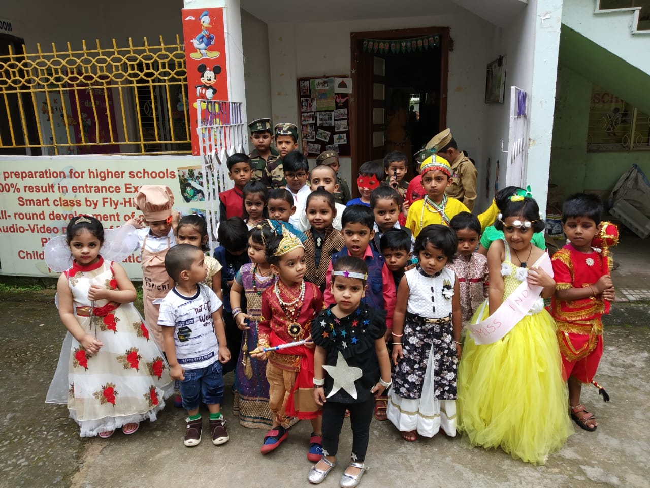 <p>To mark the occasion of Teacher's Day on Wednesday, a colourful fancy dress competition was held at the Little Pearls Schools, Ranchi</p>