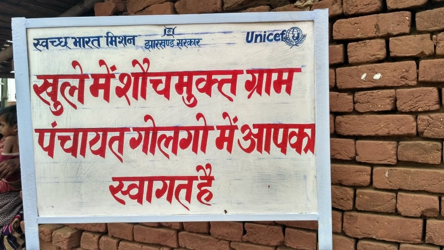 <p>Bill board has come up showing Golgo village has achieved the status of open defecation free(ODF) status in Giridih where 28 other villages had also achieved the same status,thanks…