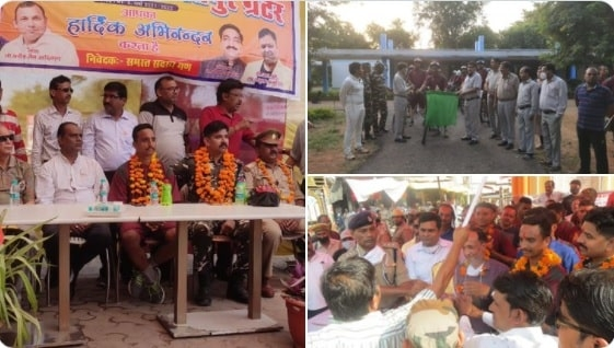 <p>Rashtriya Ekta Diwas cycle rally flagged off from Jhansi & reached Lalitpur (U.P.) on 13th October. Cyclists received a warm welcome.</p>