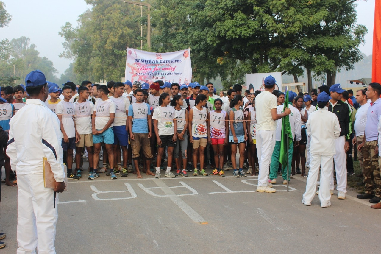 <p>On the occasion of National Unity Day on Tuesday, CISF organised a 'Run For Unity' event in Ranchi.Ranchi Mayor Asha Lakra and CMD, HEC Ranchi, Avijeet Ghosh were jointly…