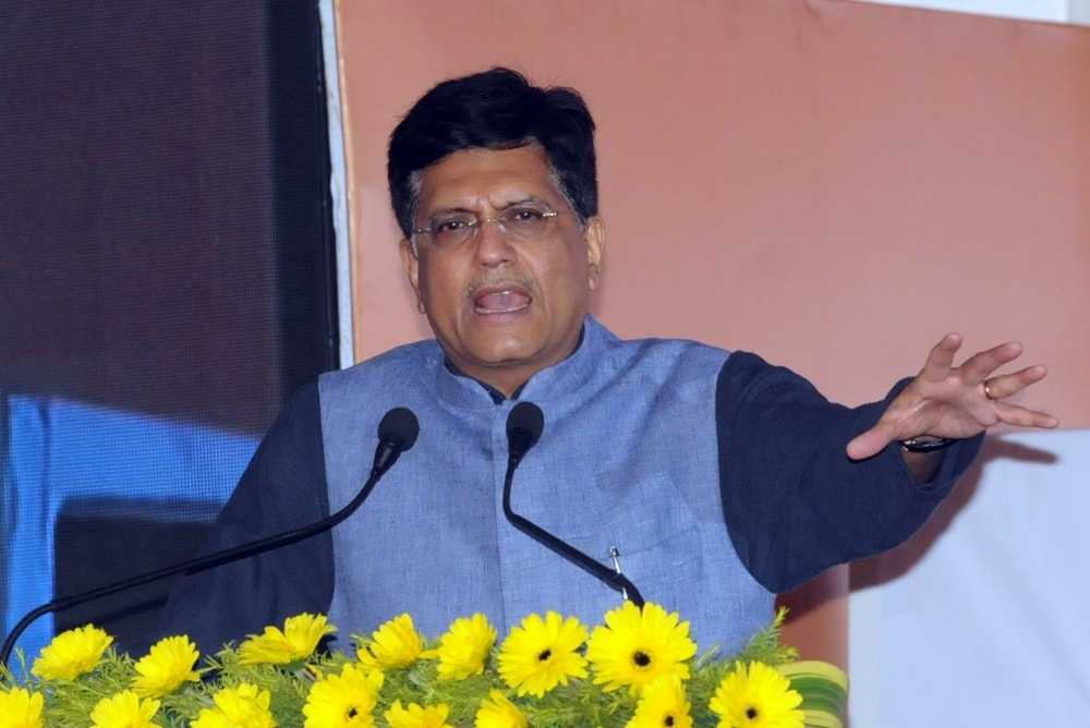 <p>Union Minister of Railways and Coal (Government of India) Piyush Goyal addresses during 'Jharkhand Mining Show-2017' (Global Mining and Minerals Summit) at Prabhat…