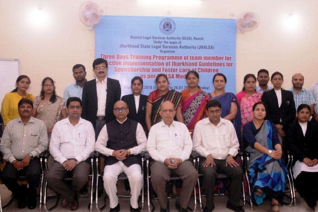 <p>Chief Justice of Family Court Justice Brajesh Kumar Gautam along with others during concluding day ceremony of the three days long training programme of a team member for effective…