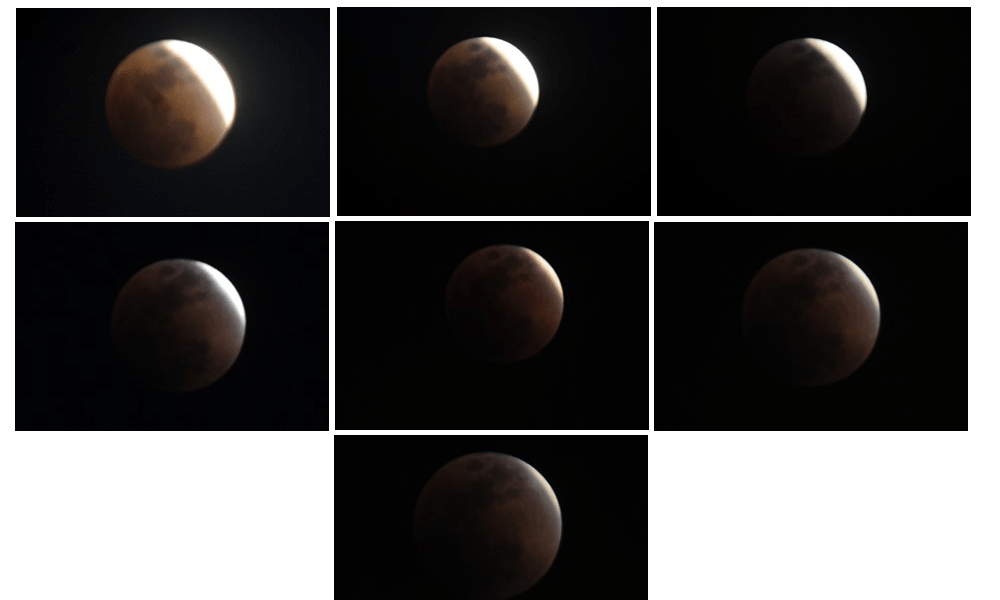 "<p>A glimpse of today's Total Lunar Eclipse . Rare ""Super Blue Blood Moon"" </p>"