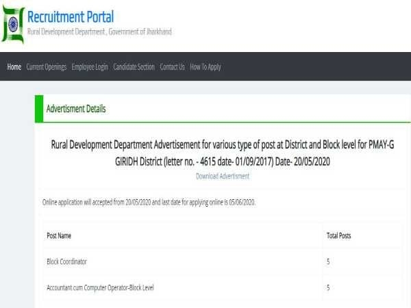 <p>Application for jobs sought by Jharkhand Govt</p> <p>If you need jobs, the Jharkhand Rural Development Department  (RDD), under the Government of Jharkhand, has invited online…