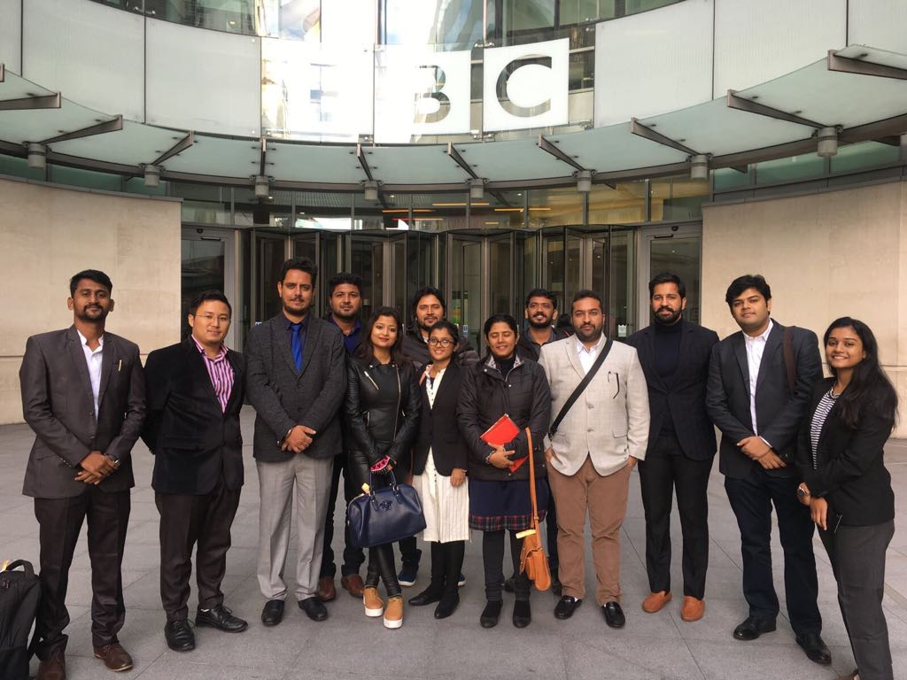 <p>BBC headquarter at Portland place in UK welcomed 13 Indian Student leaders.During his two hour interaction with them,Merie Helly,Special Editor,BBC Broadcasting House talked…