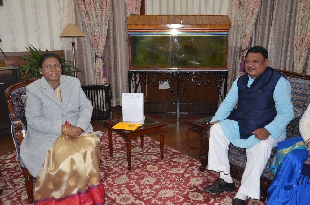 <p>माननीया राज्यपाल द्रौपदी मुर्मू से पूर्व केन्द्रीय मंत्री जुएल उरांव ने राजभवन आकर नूतन वर्ष की बधाई दी on dated 08/01/2020</p>