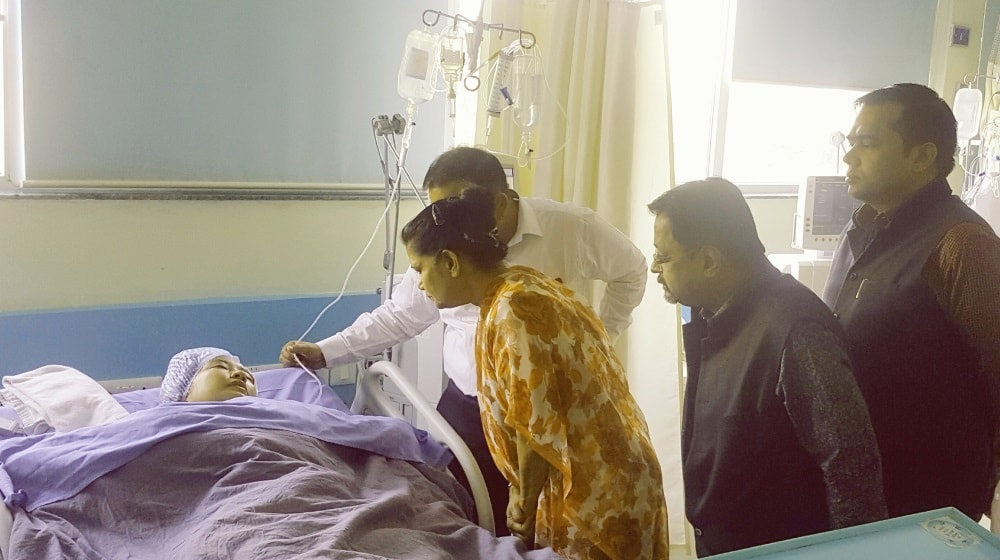 <p>Chief Secretary Rajbala Verma visited Medica Hospital today to know about the condition of the health of the wife of deceased Council General of Myanmar late Pye Soi and other injured…