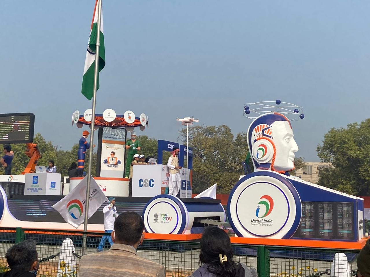 <p>Republic Day Rehearsal function in New Delhi.</p>