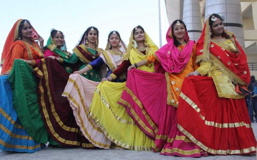 <p>Students performs cultural program during inaugural session of 33rd 'National Youth Fest' at Khelgaon in Ranchi on Friday. Over 1000 students from across the country will…